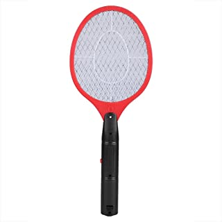 Electric Fly Mosquito Swatter Cordless Battery Powered Bug Zapper Racket Fly Insects Killer(Red)