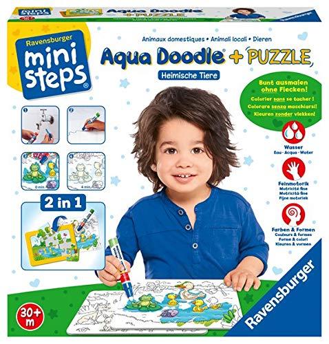 Ravensburger ministeps 04557 - Aqua Doodle® Puzzle: Heimische Tiere