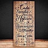 Decoración Boda | Cartel Boda Historia | 70cm x 150cm