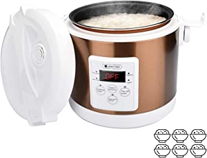 Mini Rice Cooker, 25mins quick cooking,2L- 6 cups Travel Rice Cooker Small, Removable Non-stick Pot, Precise temperature control Function, For Cooking Soup, Rice, Stews, Grains & Oatmeal