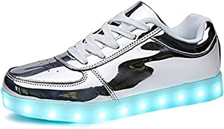 EVLYN Kids Boys Girls LED Light Up USB Charging 11 Colors Flashing Sneakers