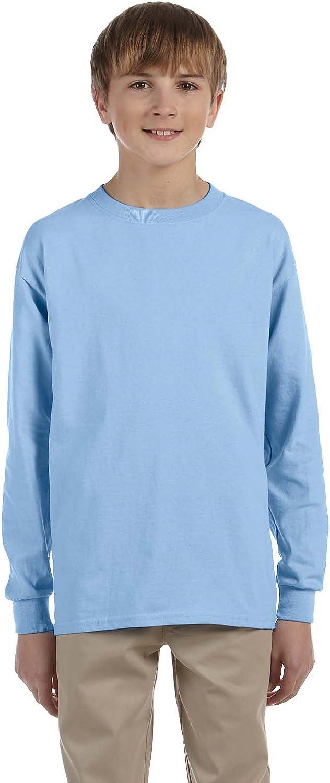 Gildan Youth Ultra Cotton6 Oz Long-Sleeve T-Shirt - Light Blue - S - (Style # G240B - Original Label)