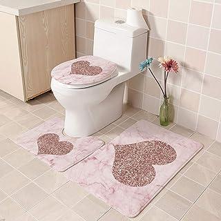 European Pattern Soft Bathroom Bath Mat Floor Rug Carpet With Slip Back 3pcs