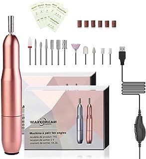 WakeDream Elektrische nagelvijl, 12-in-1, professionele manicure, krachtig en stil, draagbaar, manicureset, pedicure, voor...