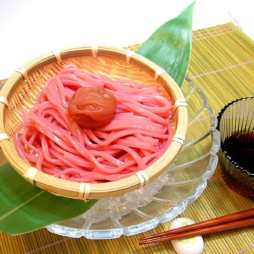 ふみこ農園 丸ざる冷し梅うどん 麺・めんつゆ・梅干し・丸ざる付き(麺150g)