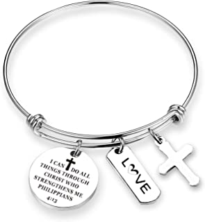 Christian Bracelet I Can Do All Things Through Christ Who Strengthens Me Inspirational Religious Jewelry Christian Gifts