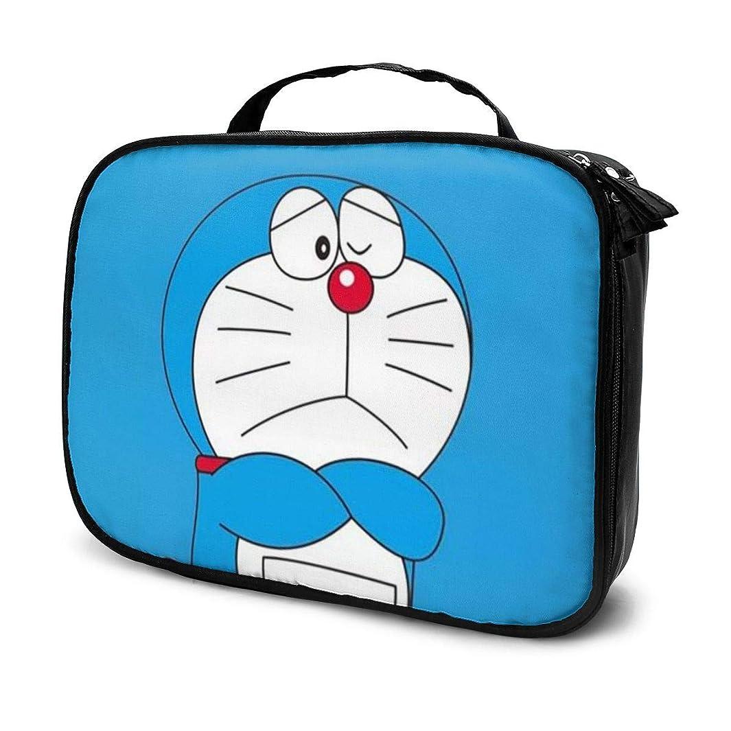 単調なカニドットDaitu悲しいドラえもん 化粧品袋の女性旅行バッグ収納大容量防水アクセサリー旅行
