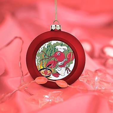 GADZILLE Christmas Balls, Crawfish Chef Camp Cooking Large Christmas Ornament Balls Christmas Decorations Xmas Balls Tree Bau