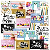 CHRORINE Biglietti di Auguri di Buon Compleanno Include 20 Biglietti di Auguri Con 20 Buste, 10 Stili d' Auguri