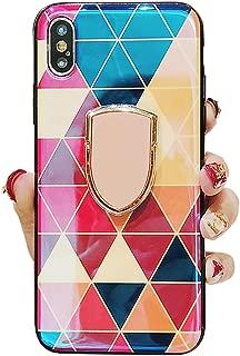 Umhlaba iPhonex Case Compatible with iPhone X Cover Xs iPhonexs Cases ix ixs Bumper I-Phone 10 Coque Aifon 10x 10xs Fundas Xphone 10s Sx Kickstand Holder 5.8 Inch (Red)