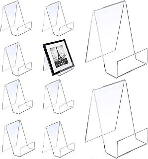 ZCXG 10 pièces Support de Livre Transparent en Acrylique, Support de Marchandises comme Serre-Livres et Support