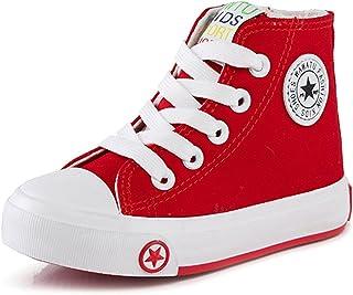 [ZUOMA] 子供着 春秋カジュアルシューズ レースアップ スニーカー 運動靴 ズック靴 バレエシューズ ランニングシューズ ウォーキングシューズ