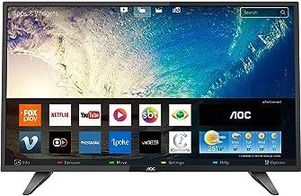 "Smart TV LED 39"" AOC LE39S5970 HD com Conversor Digital 2 HDMI 1 USB Wi-Fi Função Closed Caption - Preta"
