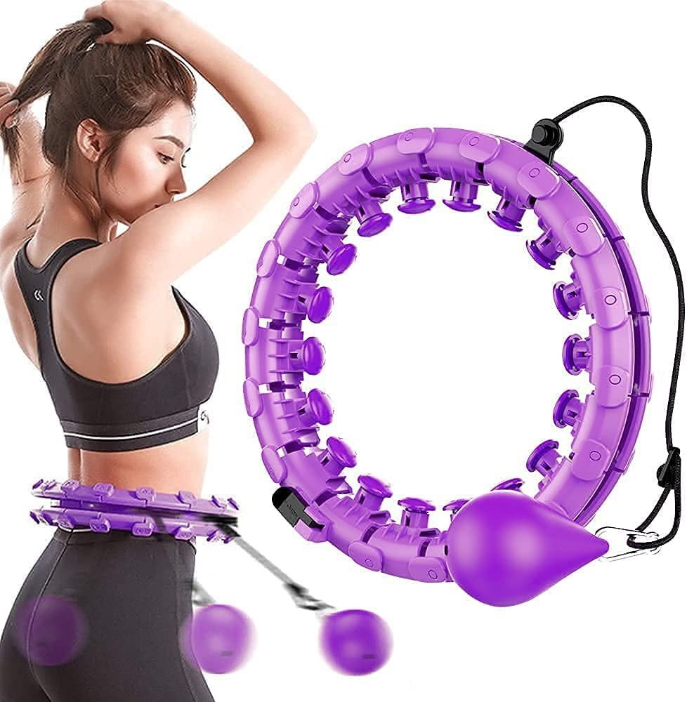 51-inch Dealing full Manufacturer OFFicial shop price reduction smart weighted hula hoop 24 detachable two-in sections