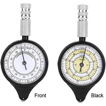 5x Hiking Walking Map Measurer Distance Calculator Camping Map Reading Compass
