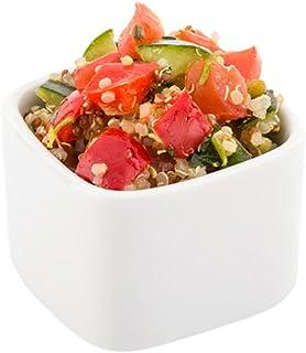 Mini Square Porcelain Dish, Mini Quadrato Dish, Square Ramekin - White - 4.5 oz - 10ct Box - Restaurantware