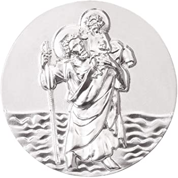 badgebest St Christophorus Plakette Cartrend Komm gut Heim mit Filigran-Diamantschliff Gedenkm/ünzen