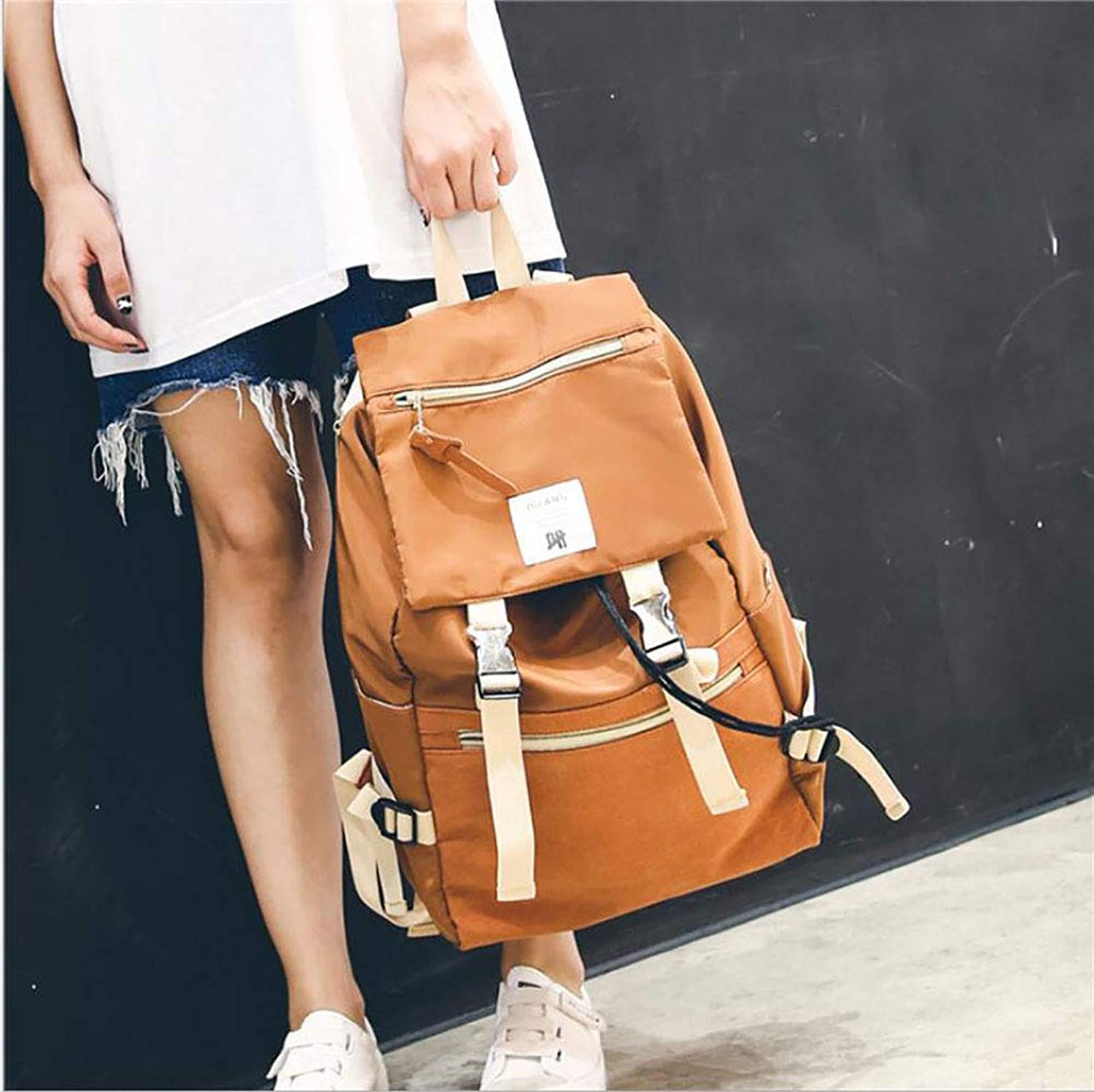 Women's Nylon Backpack Ladies Fashion Leisure Travel Bag to Learn Shopping Outdoor (color   E)