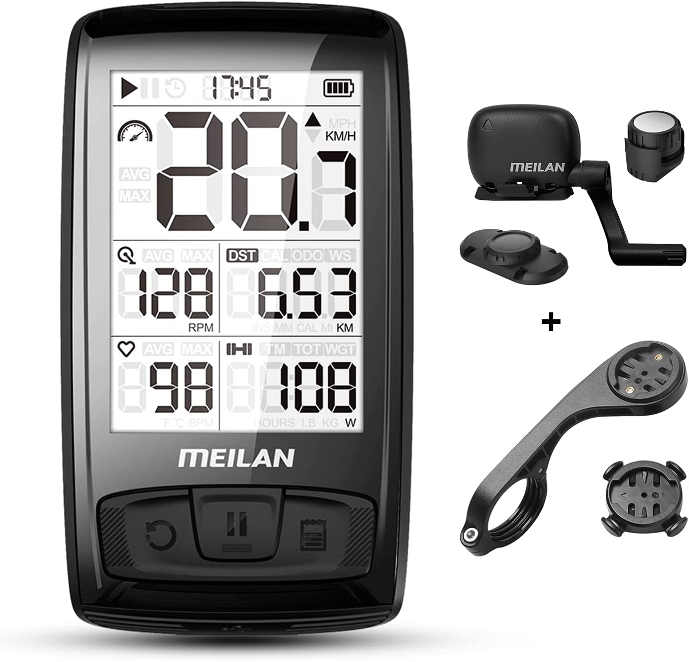 MEILAN Blade Wireless Bike Cycling 4 Max 51% OFF years warranty Backli with Computer
