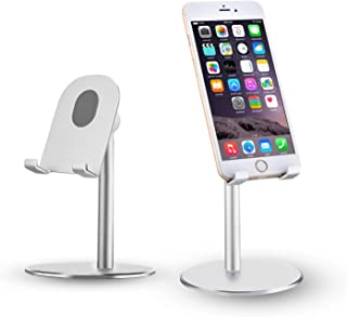 STbracket Adjustable Cell Phone/Tablet Stand, [2018 Design] Multi Angle, Aluminum Modern Accessories, for Desk Desktop iPad Pro iPhone,Compatible with iPhone X,XS,XS Max,XR,Note 9,S9 Plus,S9 (Silver)