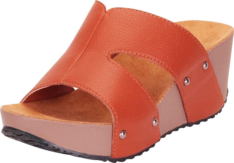 Cambridge Select Women's Open Toe Side Cutout Chunky Platform Wedge Slide Sandal