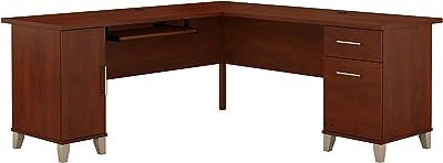 Bush Furniture Somerset 71W L Shaped Desk, Hansen Cherry