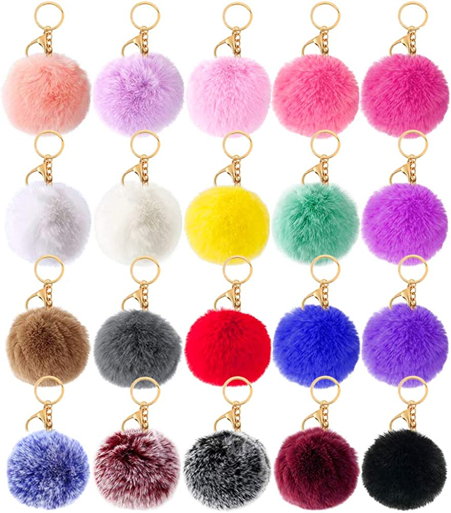 Spasm price 20 Pcs Faux Fur Ball Pom Handbag for Poms Selling Fluffy Keychains Purse