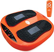 Power Legs Vibration Plate Foot Massager Platform with Rotating Acupressure Heads Multi Setting Electric Foot Massager wit...