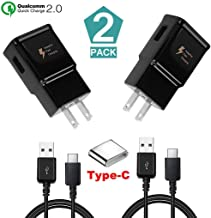 Adaptive Fast Charging Wall Charger Adapter with USB Type C Cable Kit Compatible with Samsung Galaxy S8/S8+ Note 8/S9/S9+/Note9/S10/S10+/S10e and More (2 - Pack)