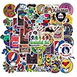 Stickers for Jerry Dancing Bear Rock Band, Rock and Roll Music Stickers Vinyl Decals for Electric Guitar Bass Drum Laptop Skateboard (Steal Your Face Sticker)