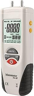 Hti-Xintai Digital Manometer, Dual Port Air Pressure Meter Pressure Gauge HVAC Gas Tester, Large LCD Display with Backlight, Basic