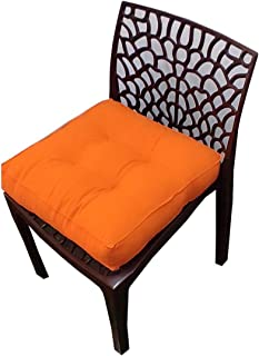 "Nivedha Mattress- Organic Silk Cotton/ kapok/ Ilavam Panju Square Car seat / Chair Pad Cushion, Size 16"" X 16"" inches -Pac..."