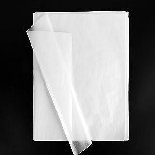 100PCS Papier de Soie Emballage 50x35cm pour Décoration Emballage Cadeau de Fête Bricolage Artisanat Fleurs Mariage (Blanc)