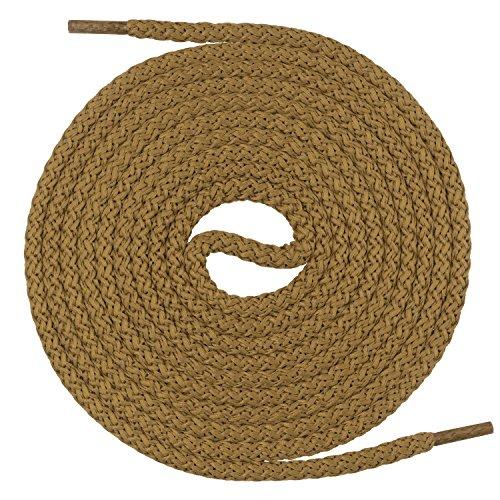 Mount Swiss runde Premium-Schnürsenkel für Militär- und Arbeitsschuhe - extrem reißfest - ø 5 mm - Farbe Hellbraun Länge 130cm