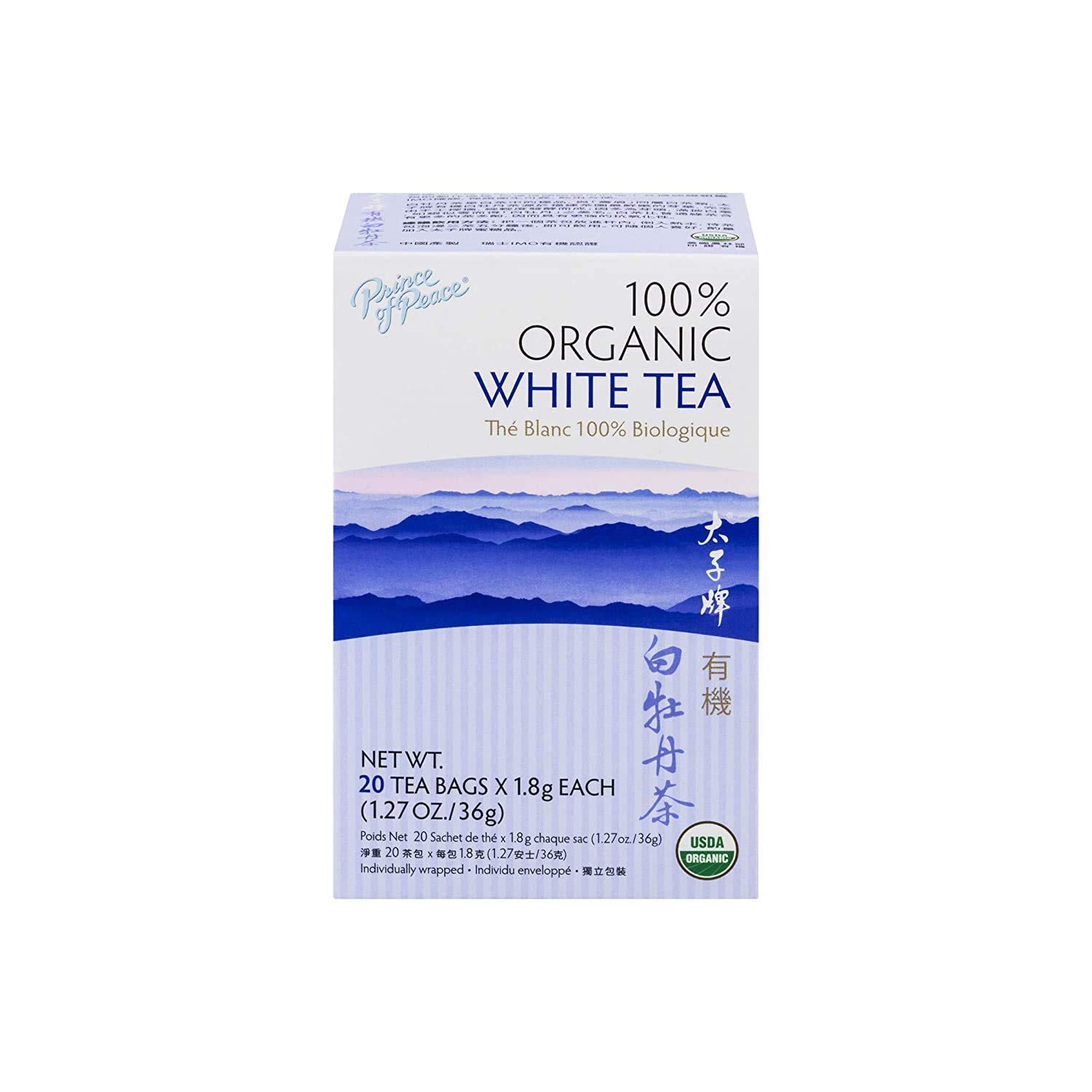 Prince of Peace SEAL limited product Organic White Tea Bags 100% Organ Luxury – 20