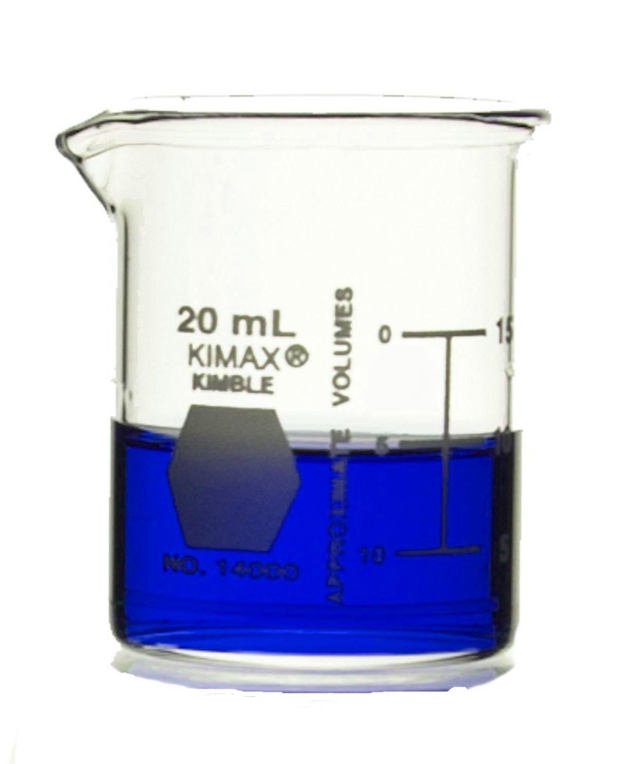 Kimax Beaker Legacy Shelf Pack of 24 15 mL Borosilicate