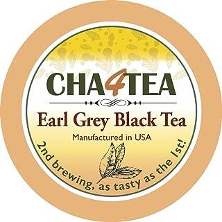 Cha4TEA 18-Count Earl Grey Tea Pods for Keurig K-Cup Brewers