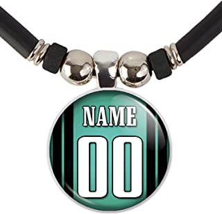 Philadelphia Football Jersey Necklace Personalized with Your Name and Number Philadelphia Football Jersey Glass Pendant Ne...