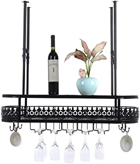 Supports à vin industriels fixés au mur avec verre à pied et porte-gobelet, rangement d'affichage de bouteilles de vin sus...