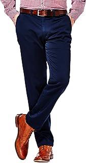 Haggar Men's Fashion Chino مقاسات عادية وكبيرة وطويلة