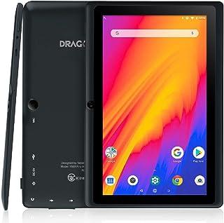 Dragon Touch Y88Y Pro Tablet 7 Pulgadas 1024x600 FHD IPS WiFi Bluetooth Tablet Android 9.0 Procesador Quad-Core RAM de 2GB 16GB de Memoria Interna Doble Cámara Negro