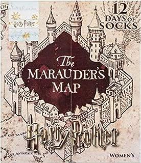 Harry Potter WOMEN'S THE MARAUDER'S 12 DAYS OF SOCKS ADVENT CALENDAR SIZES 4-10