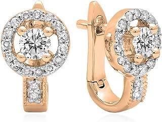 Best 1/2 carat diamond earrings rose gold Reviews