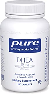 Pure Encapsulations DHEA 25 mg | Supplement for Immune Support, Fat Burning, Hormone Balance, and Emotional Wellness* | 18...