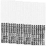 10 Piezas Letras de Plancha Letras de Flocado Suaves Negras y Blancas de 0,75 Pulgadas de Alto Letras de Transferencia de Calor para Accesorios de DIY Camiseta Ropa Bolsa