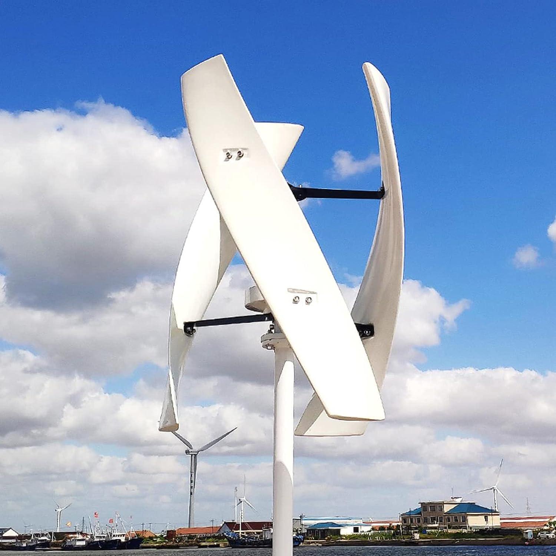 WANYE 100W, 200W, 300W, 400W, 600W, 800W 12V 24V 48V Eje Vertical Levitación magnética Turbina de Viento con Controlador 24V-300W