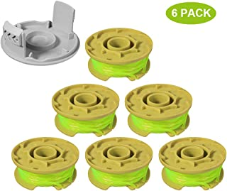 """Thten Weed Eater Replacement Spools Compatible with Ryobi One Plus+ 18V 24V 40V AC80RL3 with AC14HCA String Trimmer Cap Covers 11ft 0.080"""" Cordless Auto-Feed Twist Single Line (6 Spool, 1 Cap)"""
