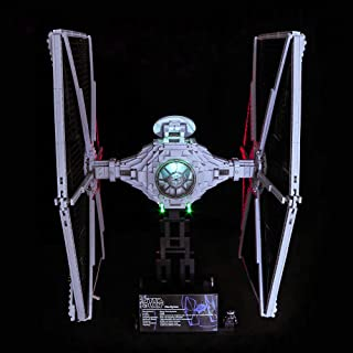 Vonado LED Light for Lego 75095 Compatible 05036 Star Wars UCS TIE Fighter Building Blocks Bricks Toys for Friends Brother Boys and Girls Christmas Halloween Festival Gift(Only Light with Battery Box)