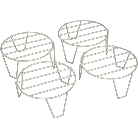 D&V ENGINEERING - Creative in innovation Metal Plant Stand, White, 22 cm, 4 Pieces