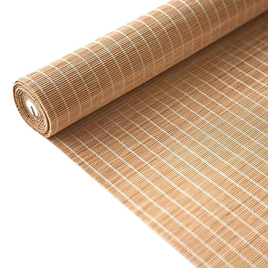 ブリーフケース暫定のマラソン竹のカーテン日本の半遮光ローラーブラインド、屋内と屋外の家、引きひも付き、日焼け止め、防水、サイズはカスタマイズ可能